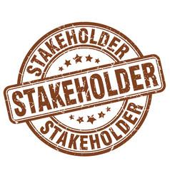 stakeholder brown grunge stamp vector image