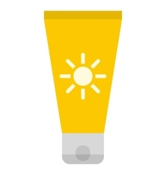 Sun cream icon vector image