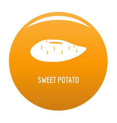 Sweet potato icon orange vector
