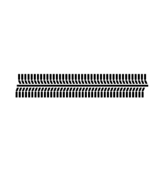 Tire tracks mark isolated icon vector