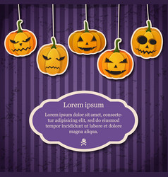 vintage happy halloween festive template vector image