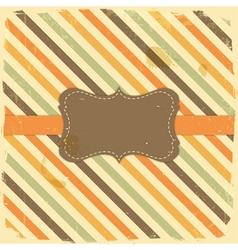 Vintage Label on Grunge Stripe Background vector image