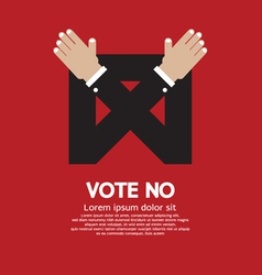 Vote no vector