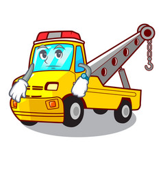 Waiting tow truck for vehicle branding character vector