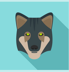 wild wolf icon flat style vector image