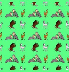wildlife pattern vector image