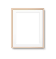 Wood picture frame isolated vector