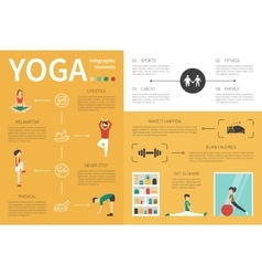 Yoga infographic flat vector