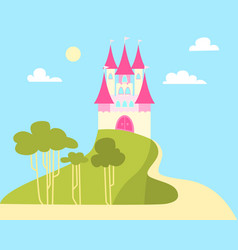 castle for the princess vector image