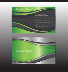 eco business card concept idea vector image