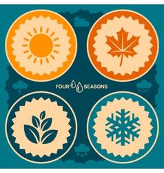 Four seasons design vector image