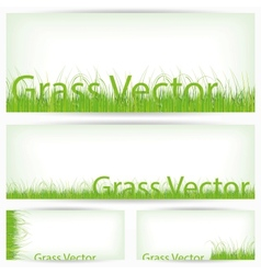 Green Grass Set Isolated On White Background vector image