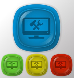 monitor symbol settings vector image