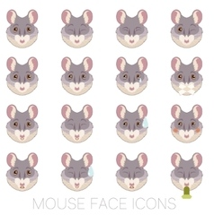 Set of Mouse faces vector image vector image