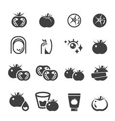 tomato icon set vector image
