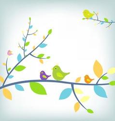 fantastic birds vector image