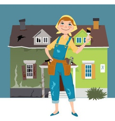 Flipping a house vector image