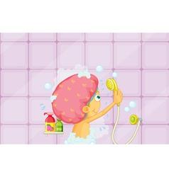 Girl showering vector image