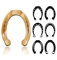 Horseshoe set vector image