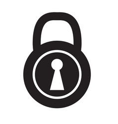 lock icon on white background lock sign vector image vector image