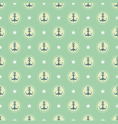pastel nautical pattern vector image
