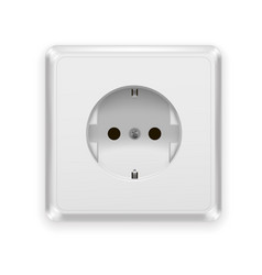 realistic plastic power socket europe type vector image vector image