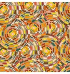 seamless pattern of circles kaleidoscope vector image vector image