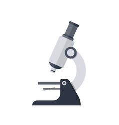 simple microscope icon vector image