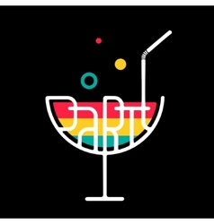 Symbol Cocktail Party vector image vector image