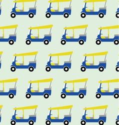 taxi tuktuk pattern vector image
