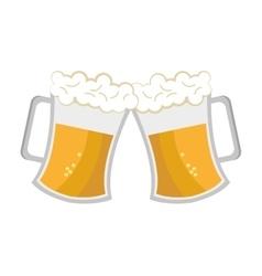 Cheers beer cups graphic vector