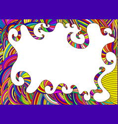 ethnic colorful frame decorative abstract vector image vector image