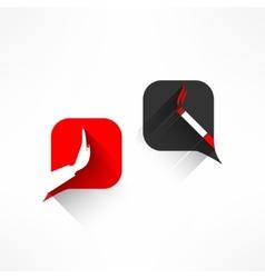 no smoking dialog in modern flat design vector image