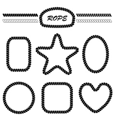 set of monochrome brushes and frames vector image vector image