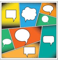 Speech Bubble in Pop-Art Style vector image