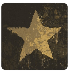 star symbol on grunge texture vector image vector image