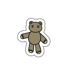 teddy bear doodle icon vector image
