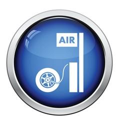 Wheels pump station icon vector image