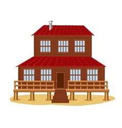 Big wooden house vector image