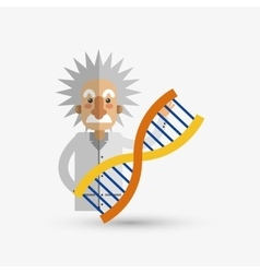 Colorful einstein design over white background vector image vector image