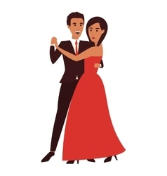 Dancing couple Flat design vector image vector image