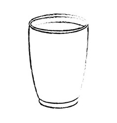 Draw glass cup crystal water liquid vector