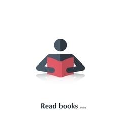 Read book vector image