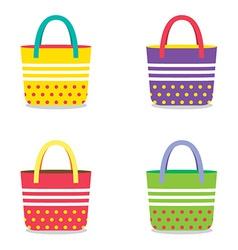 Set of Colorful Handbags vector image