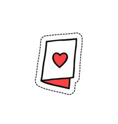 valentine card doodle icon vector image vector image