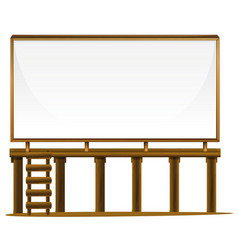 whiteboard on wooden bar vector image vector image