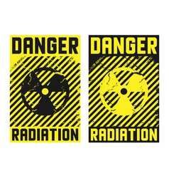 2 radiation posters vector image