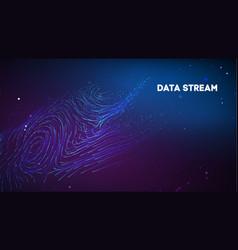Abstract purple data stream digital vector