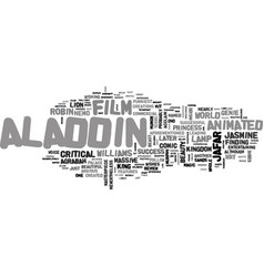 Aladdin dvd review text word cloud concept vector