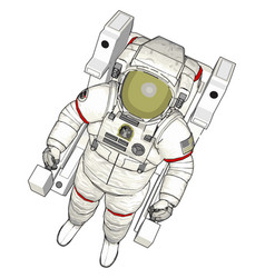 An astronaut white background vector